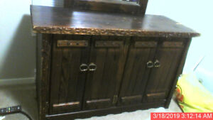 Dresser / Mirror Western Style Rustic Home Made ONE of a KIND