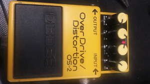 BOSS OS-2 overdrive / distortion pedal.