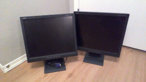 Matching 17 Inch Computer Screens with Cables Included