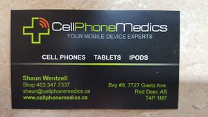 CELL PHONE MEDICS, 7727 Gaetz Ave RED DEER. 403-347-7337