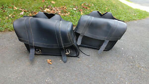 Brand new leather saddle bags