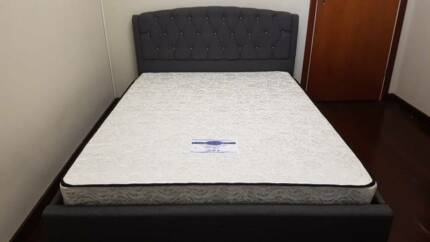 Discounted Fabric Bed Frame and Innersprung Mattress