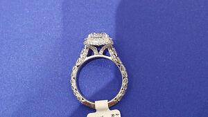 Tacori Designer Platinum and Diamond Engagement Ring