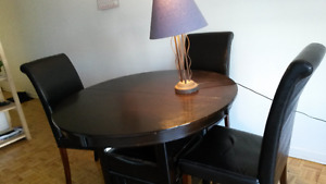 moving sale round dinning table  4 chair and ikea sofa bed