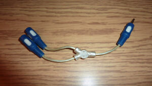 RCA GOLD PLATED 3.5mm Audio Earphone Headphone Splitter Cable