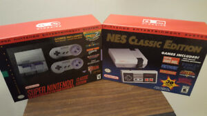 NES Classic And SNES Classic New Sealed