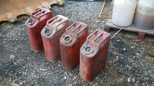 1960's vintage gas cans