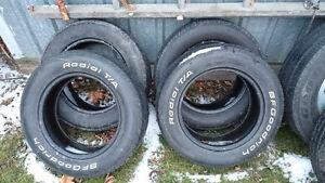 195/60-14 BF Goodrich white letter tires, set of 4