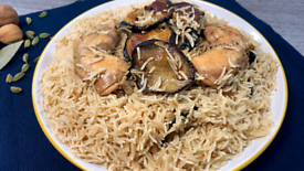 Easy and delicious eggplant and chicken pulao