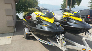2007 SEADOO RXP SUPERCHARGED 215HP. ONLY 59HRS WHOLE PKG KELOWNA