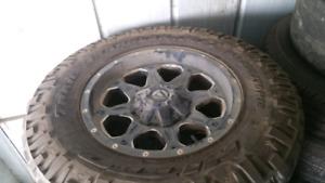 """Fuel 18"""" rims w/tires"""