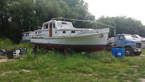 Used 1951 Other Custom Wood/Steel frame 38' boat