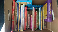 Box of close to 50 Misc kids books