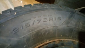 175/70R13  Winter Set of 4 on Rims  from a Toyota Corolla