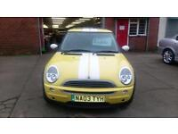 MINI 0NE 1.6 SALT TWIN SUNROOFS NEW CLUTCH/TYRES ONLY £15 WEEK P/LOAN 03 REG