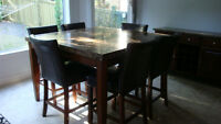 Montibello wine rack/server, table and chairs