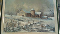 "Claude Langevin Oil On Canvas 24"" x 36"""