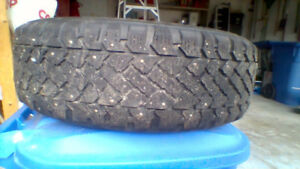 set of 4 studed winter tire 205/55R16