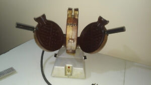 Commercial antique dual waffle maker