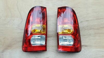 REAR TAIL STOP LIGHT LAMP for TOYOTA HILUX MK6 2005-2011 PAIR With Bulb