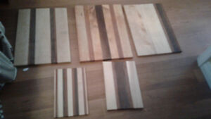 5 wooden cutting boards