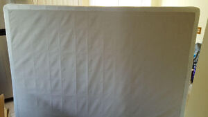 Queen size box spring and metal bed frame