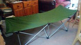 Camping gear. Folding single bed, Very good condition