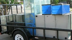 AQUARIUMS, TRAILER FULL MUST GO....
