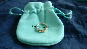 Tiffany & Co. Infinity Ring - Rose Gold and Silver