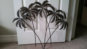 Palm tree metal wall art hanging,