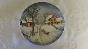 Vintage German Winter Scene Plate