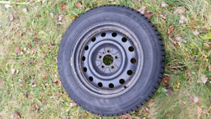 WinterClaw 215/65/R17 99T winter tires, on steel rims. Set of 4.