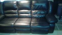 kit divan cuir noir