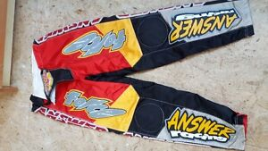 Answer BMX Motocross Pants Like New Condition