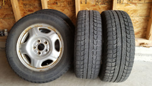 Winter tires, Michellin X-Ice with rims, $450 obo
