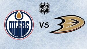Oilers vs ducks Rogers place 2 tickets