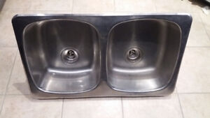 Stainless Double Bowl Top Mount Sink