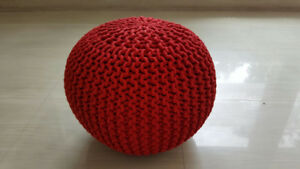 Brand New Hand Knitted POUFs