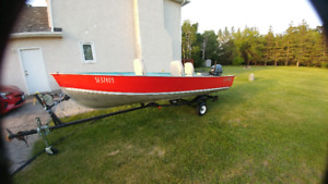 LUND S 14 with Yamaha 15 hp 4 stroke
