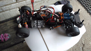 HPI Cup racer drift car and losi ReadyLift brushless