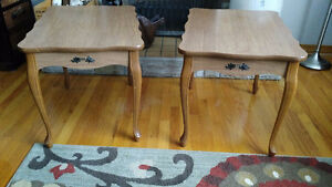 Pair of Large Vintage End Tables - Late 60s