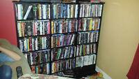 Bibliothèque à DVDs ou CDs
