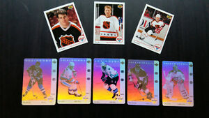 8 cartes hockey upper deck mcdo 1991-92