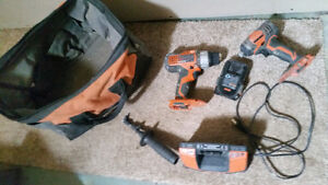 18v Ridgid drill and IMpact drill and charger