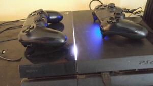 PS4 500 GB with 2 controllers $250