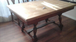 FREE large solid wood dining table