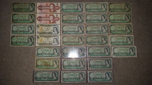 a whack of old Canadian bills!! see my other awesome ads!!!!!!!! London Ontario image 2