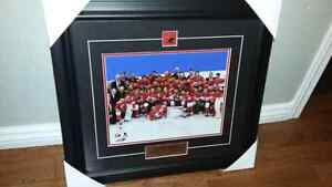 Canadian 2014 Gold Medal team photo framed and matted