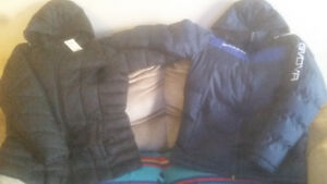 new winter jackets and used skates