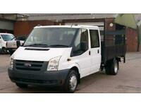074ea0b69edf6b 2009 59 FORD TRANSIT 350 LWB 7 SEATER CREW CAB FLAT BED WITH TAIL LIFT X